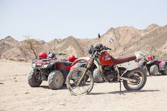 Bike honda in the desert Royalty Free Stock Photo