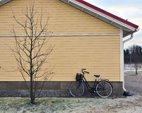 Bike at the house Stock Photography