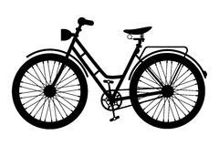 Bike Icon. Black Bicycle Symbol. Silhouette Isolated on White Background Royalty Free Stock Photo