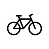 Bike icon. Black mountain bike icon isolated on white stock illustration