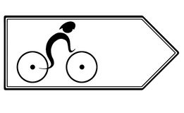 Bike icon Stock Photography