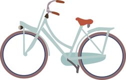bike icon of dutch bicycle without background royalty free illustration