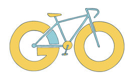 Bike icon. Go for a ride adventure concept Stock Images