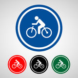 Bike icon great for any use. Vector EPS10. Stock Photos