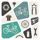Bike icon set Royalty Free Stock Photos