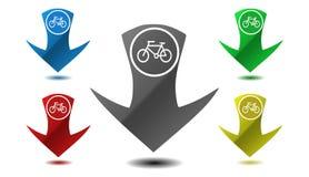 Bike icon, sign, illustration Stock Photography