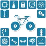 Bike icons Stock Photography
