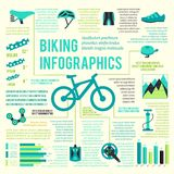 Bike icons infographic Stock Images
