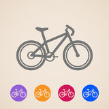 Bike icons Stock Image