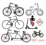 Bike icons Royalty Free Stock Image
