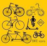 Bike icons Royalty Free Stock Photo