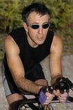 Bike il cavaliere Fotografie Stock Libere da Diritti