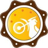 Bike illustrated for logo Stock Photo