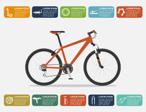 Bike infographic Royalty Free Stock Images