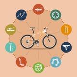 Bike infographic Royalty Free Stock Photo