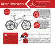 Bike infographic. Vector illustration. Stock Images