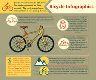 Bike infographic. Vector illustration. Royalty Free Stock Images