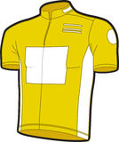 Bike jersey. A yellow bike jersey done in illustrator Stock Image