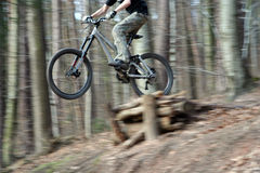 Bike jump Stock Image