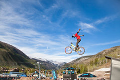 Bike jump during the Slopestyle final Stock Photography