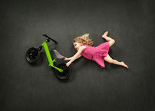 Bike jump Royalty Free Stock Images