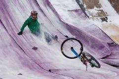 Bike jumper fall down Royalty Free Stock Photo