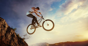 Bike jumps Royalty Free Stock Photos