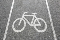 Bike la ciudad del tráfico por carretera de la bicicleta del ciclo de la manera de la trayectoria del carril fotos de archivo
