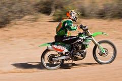 Bike la corsa del deserto fotografia stock libera da diritti