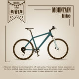 bike la prospettiva biking della montagna delle mani della foresta del fuoco del campo di profondità del ciclista poco profonda illustrazione di stock