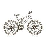 bike la prospettiva biking della montagna delle mani della foresta del fuoco del campo di profondità del ciclista poco profonda C royalty illustrazione gratis