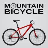 bike la prospettiva biking della montagna delle mani della foresta del fuoco del campo di profondità del ciclista poco profonda O illustrazione di stock