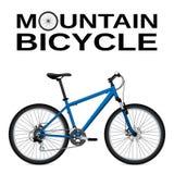bike la prospettiva biking della montagna delle mani della foresta del fuoco del campo di profondità del ciclista poco profonda O royalty illustrazione gratis