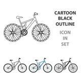 bike la prospettiva biking della montagna delle mani della foresta del fuoco del campo di profondità del ciclista poco profonda C illustrazione vettoriale