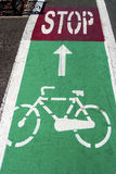 Bike lane 1 Royalty Free Stock Image