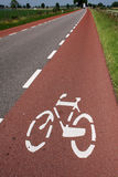 Bike lane. A well indicated bike lane increasing traffic safety Royalty Free Stock Images