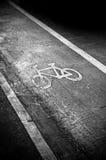 Bike lane. Bilke lane sign on the road stock photos