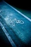 Bike lane. On the road royalty free stock image