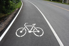 Bike lane Royalty Free Stock Image
