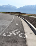 Bike Lane. Image of a bike lane in Utah royalty free stock photography