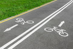 Bike lane. Road for bicycles Stock Image