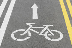 Bike lane. Road for bicycles stock photos