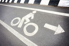 BIKE LANE Royalty Free Stock Photos