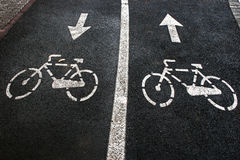 Bike lane 5 stock image