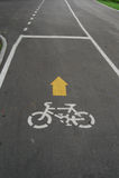 Bike lane in Bangkok. Thailand Royalty Free Stock Image