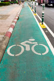 Bike lane in Bangkok Royalty Free Stock Photo