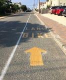 Bike Lane At The Beach Stock Image