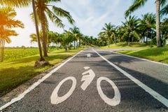 Bike lane Stock Photo