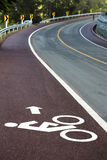 Bike lane. In the city Royalty Free Stock Photography