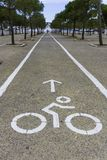 Bike lane in city park. In Athens, Greece Royalty Free Stock Image